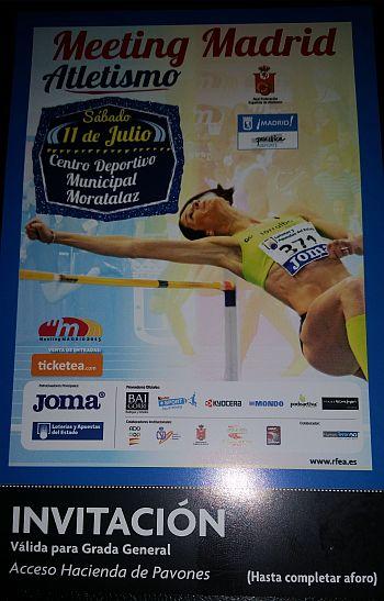 Invitaciones disponibles para el Meeting de Madrid de Atletismo